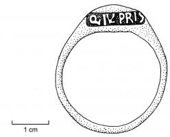 AES-4002 -  *  Closed ring stamped&#013&#013 *  Closed ring , scored on a crash with a nominal stamp .