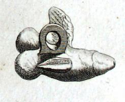 AMP-4009 - Amulet : phallic&#013&#013 *  Phallus stocky , with fins , suspension ring cast .