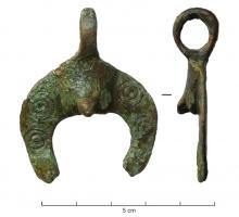AMP-4035 - *  Phallic amulet kind Aquileia&#013&#013 *  Amulet consists of a phallus detaching a pelte ; summit , suspension ring perpendicular cast .