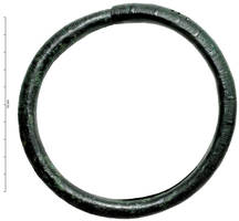 ANC-2003 -  *  Anklet&#013&#013 *  Ring hollow pin : metal sheet of bronze wound on itself , with a tapered end to max out the other , decorated with a series of small ridges ( 10 to 15 ) alternating with wide moldings.