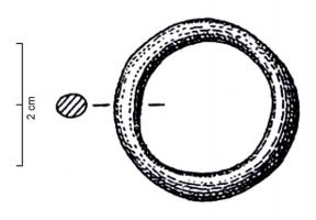 ANO-1006 - *  Farm massive ring&#013*  Farm massive ring of oval section of lower diameter was 50mm.