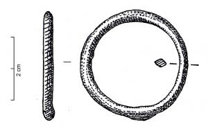 ANO-1007 - *  Farm massive ring&#013*  Farm massive ring of indifferent section and perimeter or guilloche incision .