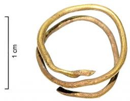 BAG-1003 -  *  Anello a spirale&#013&#013 *  Ring formed of a cylindrical wire , wound 2 turns on , the flattened ends .