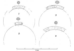 BRC-3009 -  *  Closed bracelet round section&#013 *  Bracelet smooth rush , diam.  Internal between 8 and 9 cm.