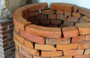 BRQ-4001 -  *  curved brick&#013 *  Curved brick for lining wells.