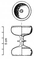 CHL-4001 -  *  Chandelier symmetric&#013&#013 *  Candlestick symmetrical , consisting of two hemispherical cups are separated by a constriction marked by strong moldings.