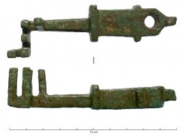 CLE-4056 -  *  Key translation&#013&#013 *  Translation key to handle massive bronze quadrangular section and the moldings is low and the rounded top , provided with appendages 3 is pierced right through .