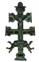 CRF-9027 - Crucifix&#013 bronze&#013Croix double de type
