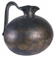 CRU-2008 - Jug&#013&#013 *  Hammered jug ( one piece ) , short neck and beak trefoil , belly Subspherical , raised handle.