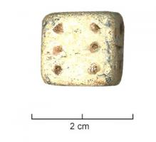DEJ-9003 - Die : cubic, plain&#013&#013 *  Cubic dice with figures like the bone dice or bronze by 1-6 points.