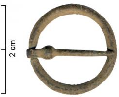 FER-7004 -  *  fermail&#013 *  Clasp comprises a single ring of circular section , the throttle position of the tongue which carries a bulge near the joint .