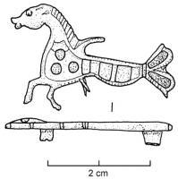 FIB-4163 - Fibule zoomorphe : cheval marin