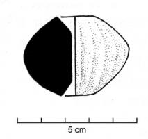 FUS-3003 -  *  Biconical whorl grooved&#013&#013 *  Or globular biconical whorl ; shaped decoration: vertical grooves on all sides .