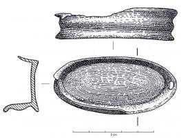 IND-1044 - *  Cup-shaped object&#013*  Subject oval shaped cup ;  perimeter molding.