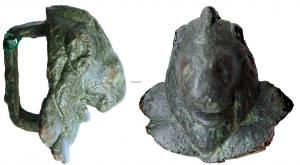 JHA-4015 -  *  Dal cablaggio&#013 *  Passing shaped head of a lion over a jewel , the reverse bail quadrangular .
