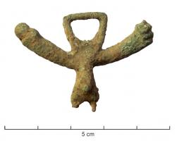 PDH-4087 -  *  For harness phallic&#013 *  For cast , symmetrical, representing over male genitals resting a phallus on one side, the other arm with a hand making the gesture of the fig (sometimes very schematically ) suspension ring placed in the same  map as pendant, ring and indérieur additional thinking .