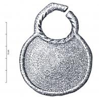 PDQ-1052 -  *  ciondolo circolare&#013&#013 *  Circular pendant around ribbed ; also bail circular guilloche , directly related to the pendant overflow .