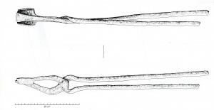 PIN-4003 - *  Blacksmith tongs&#013*  Pliers jaws and limbs rights.  One of the jaw presents a widening and side shoulders come to follow suit in which the second jaw.
