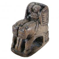 PIO-6011 -  *  Chess piece : char ( round )&#013&#013 *  Storied piece contained in a compact mass , a chariot with his driver, pulled by two or four horses abreast .