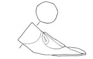 PME-4005 -  *  Piede sedile a forma di piede&#013&#013 *  Seat leg formed a shod foot .  Instead of the ankle , round and angular aperture corresponding to the seat post.