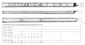 RGL-4003 -  *  Ruler of both feet&#013&#013 *  Straight bar of rectangular cross section , marked with incised marks on two or four sides of an ounce (24.6 mm) per foot ( 296 mm ) .