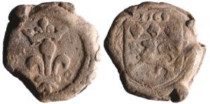 SCL-8001 - *  Seal customs : Lyon, Charles IX&#013*  Lead a single tunnel.