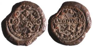 SCL-9098 - *  Seal customs : Lyon, Henri IV&#013*  Lead a single tunnel.