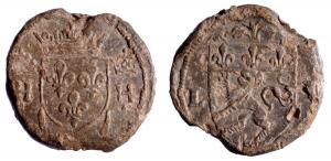 SCL-9111 - *  Seal customs : Lyon, Henri II&#013*  Royal lead a single tunnel.