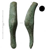 SIT-4017 - Situla&#013&#013 *  Handle situle whose curved ends can evoke a anatidé head.