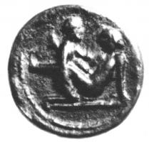 TES-4004 -  *  Tessera erotic spintria&#013&#013 *  Token bronze , circular, with on one side a relief showing an erotic scene : token brothel .